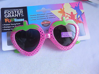 Kids Foster Grant Sunglasses Fun House Pink Strawberry UV400