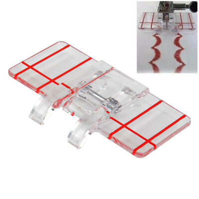 Clear Plastic Parallel Stitch Foot Presser For Household Domestic Sewing Machine