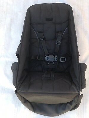 Black TOP SEAT Fabric Steelcraft Strider COMPACT OR PLUS Round Button Harness.