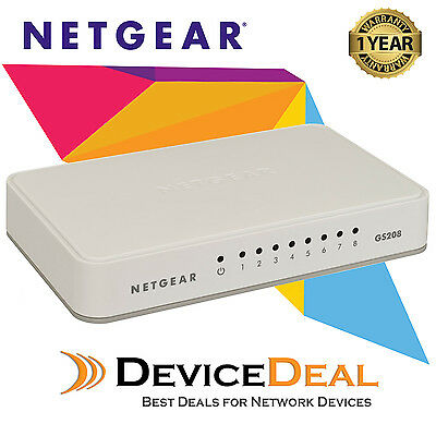 NETGEAR GS208 8 Port Gigabit Ethernet Unmanaged Switch