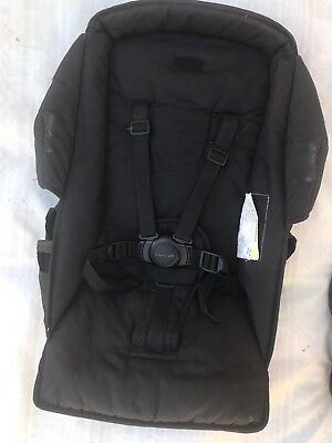 Black SECOND Seat FABRIC Steelcraft Strider COMPACT with Round Button HARNESS