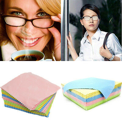 10Pcs Microfiber Eyeglass Square Cleaning Cloth Screen Camera Lens Cleaner Tool
