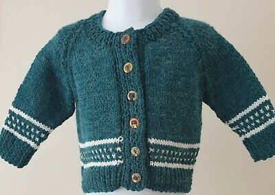 Hand Knitted Double Knitting Baby Cardigan to fit 6 to 12 Months Approx