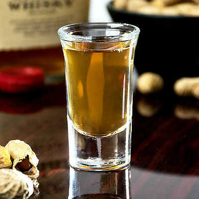 BOX SET OF 12 - Libbey 5033 - 1 oz. Tall Whiskey / Shot Glass with Cap Line Case