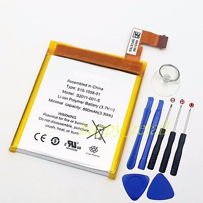 New Battery For Amazon Kindle 4 5 6 4G WiFi D01100 MC-265360 515-1058-01 + Tools