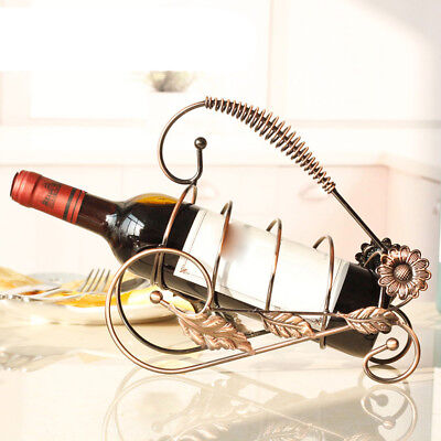 Wine Rack Wine Bottle Holder for Christmas Holiday Party Decoration Bronze