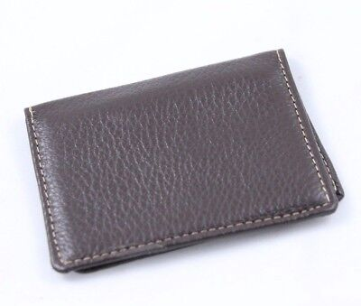 G.H.Bass Genuine Men's Leather Credit Card Holder-Brown-Retails for $25.00