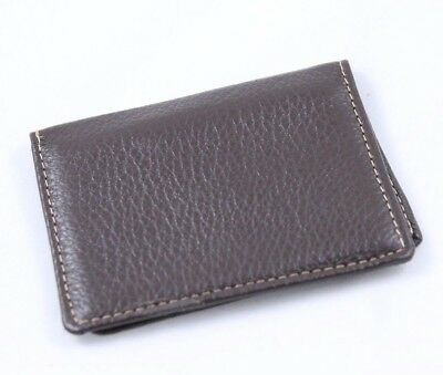 NEW G.H.Bass Genuine Men's Leather Credit Card Holder-Brown-Retails for $25.00