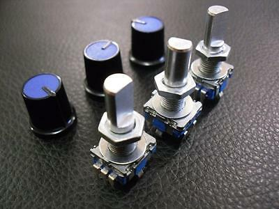 3 Pieces 12mm Rotary Encoder Switch with Keyswitch + Knobs