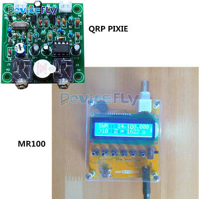 MR100 Shortwave Antenna Analyzer Meter Tester QRP PIXIE Receiver For Ham Radio
