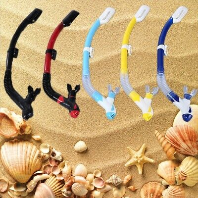 Snorkeling Scuba Diving Dry Snorkel with Silicone Mouthpiece Purge Valve ON SALE