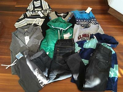 FREE POST Boys ALL NEW Bulk Winter Clothes Sz 6/7,11 Items,Quicksilver,H & M