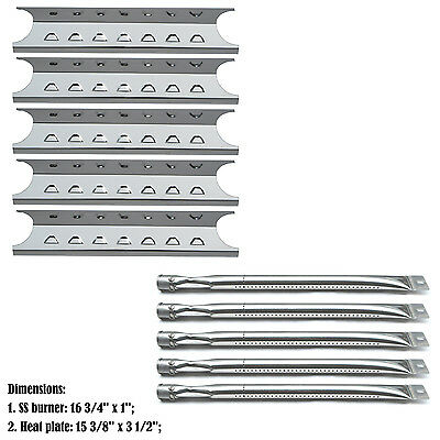 Replacement Repair Kit Burner & SS Heat Plate for Master Forge Gas Grill