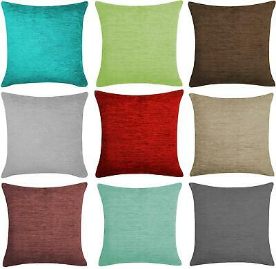 """Stylish Chenille Plain Soft Scatter Cushion Cover Luxury 43 x 43, 17x17"""""""