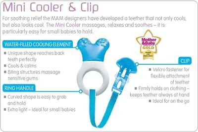 MAM Starter & Clip Teether and MAM Mini Cooler & Clip Teether - Choose Colour