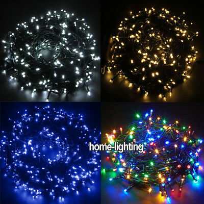 30M 300 Leds String Fairy Lights Mains Powered Xmas Party + Controller UK Stock & ELECTRIC 30M/50M/100M MAINS Plugin String Fairy Lighting Garden ...