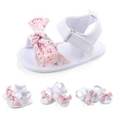Baby Infant Kid Girl Soft Sole Crib Sandals Shoes Toddler Newborn Cute Prewalker