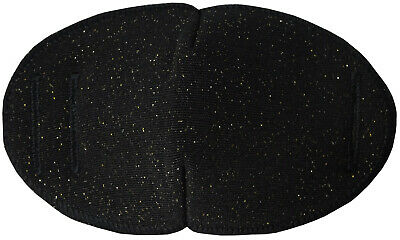 Medical Glasses Patch BLACK/GOLD TWINKLE - LARGE Sold to the NHS