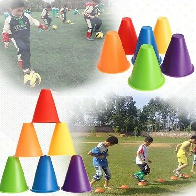 5x Witches Hat Slalom Cones Marker Safety Colors for Skating Football Soccer