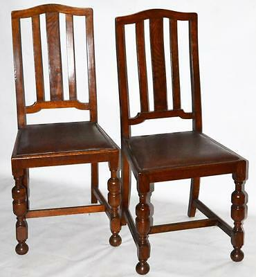 Set of 2 Vintage English Oak Dining Chairs - FREE Shipping [PL592B]