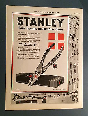 Vintage Stanley Tools Ad - Saturday Evening Post 1925 - Hand Tools