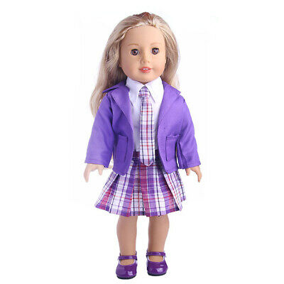 Fashion 4pcs Clothing Pleated Dress Outfit for 18'' American Girl Dolls ACCS