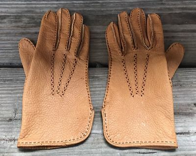 Vintage 60s MEADOWBROOK Genuine Peccary Pigskin Leather Driving Gloves Women's 6