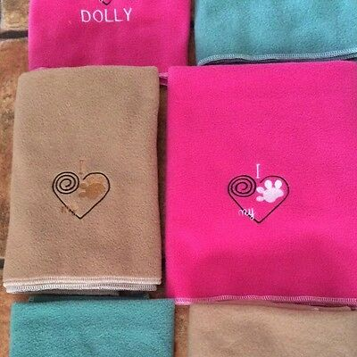 Personalised embroidered puppy/ small dog blanket various colours & designs