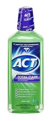Act Total Care Rinse, Anticavity Fluoride Mouthwash, Fresh Mint-18 Oz Pack of 3