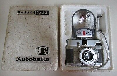 Bilora Bella 44 Outfit Silver & Grey Camera - Original Foam Box & Instructions
