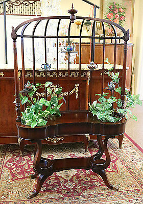 Rare Custom Cabinet Made Mahogany Regency Style 1940 RESTORED Hall Planter Shelf