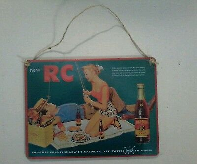 Wooden Country Store Sign/Ad RC Cola