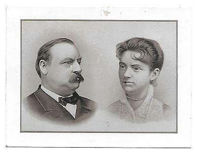 Great Overland & Pacific Tea Co.victorian Trade Card President & Mrs. Cleveland