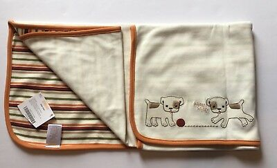 NWT Gymboree My First Pet Bull Dog Striped Baby Blanket