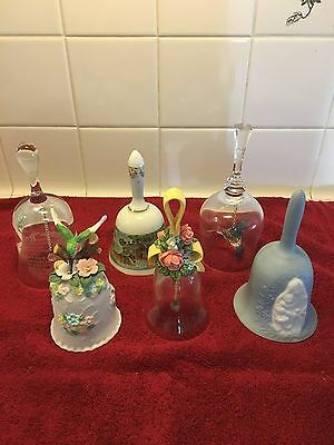 Vintage Lot Of 6 Handheld Decorative Bells