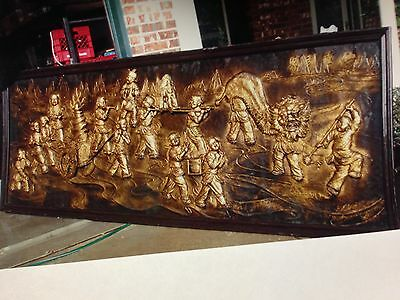 Chinese  Painting Mural 12 1/2 ft x 4 1/2 ft