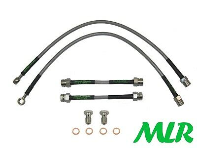 Mk2 Beetle Turbo Tfsi Tdi V5 Stainless Steel Braided Brake Lines Hoses Pipes Ug
