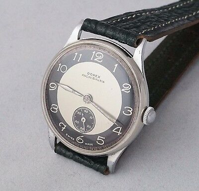 DOREX 1930 s ART DECO Era Swiss 15 J Mechanical Wrist Watch NEW OLD STOCK