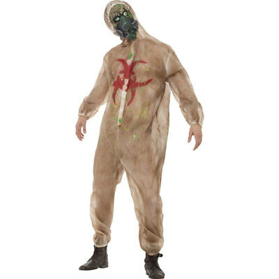 1fcad0e6f35 Adult Mens Zombie Biohazard Halloween Scary Fancy Dress Costume Outfit 48217