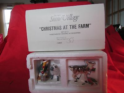 """Dept 56 Snow Village """"Christmas At The Farm""""  56 54500 Free Shipping"""