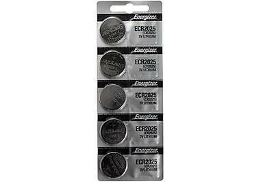25-Pack CR2025 Energizer 3 Volt Lithium Coin Cell Batteries (On a Card)