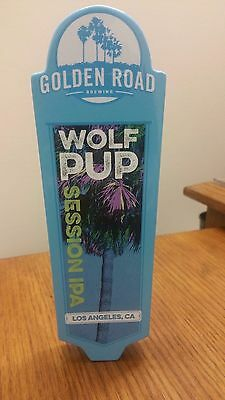 "GOLDEN ROAD WOLF PUP SESSION IPA LOS ANGELES 8-1/4"" FREE SHIP Beer Tap Handle"