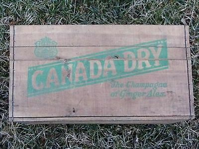 Canada Dry Ginger Ale Ltd Wooden Beverage Crate The Champagne Of Gnger Ale 1-42