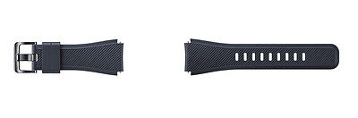 Samsung - Silicone Watch Strap for Samsung Gear S3 Frontier/Classic - Black