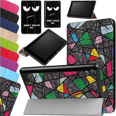 Amazon Fire 7 Case With ALEXA Smart Stand Leather Cover For Fire HD 10 HD 8 2017