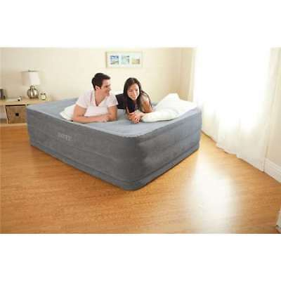 Intex Comfort Plush High Rise Airbed with Built-In Pump - Queen (Open Box)