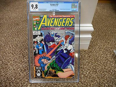 Avengers 337 cgc 9.8 Marvel 1991 movie WHITE pages Brethren MINT Sersi Captain