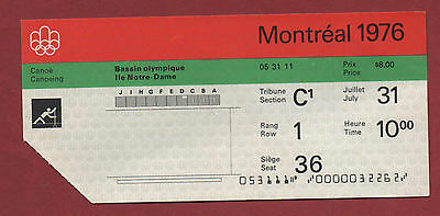 Orig.ticket   Olympic Games MONTREAL 1976 - CANOEING 31.07. / 5 FINAL´s  !! RARE
