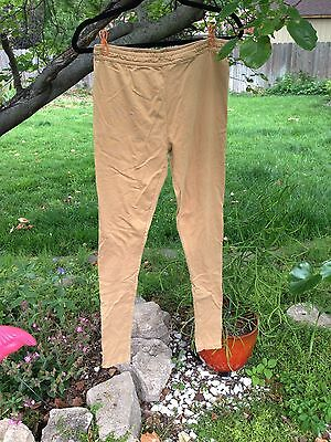 W for Woman - Indian churidar leggings - Tan Beige Brown - 100% cotton - XS / S