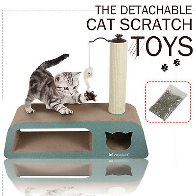 Kitten Cat Tree Activity Centre Scratcher Scratching Post Sisal Toys Bed House